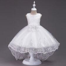 Flower Girl Bow Princess Dress Baby Kids Formal Dresses Party Wedding Bridesmaid