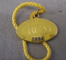 Racecourse Association Rca 1994 Enamel Badge with Cord Horse Racing