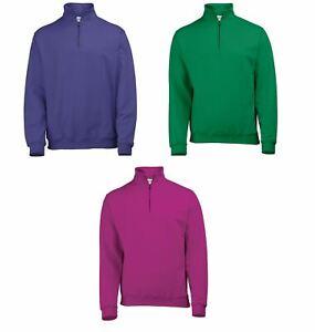AWDis Ladies Mens Unisex Adults 1/4 Zip Sweatshirt Casual Sweat Top JH046