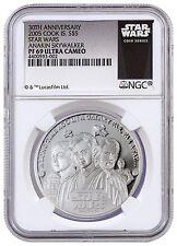 2005 Cook Islands Silver $5 - Star Wars - Anakin Skywalker - PF69 UC - NGC Coin