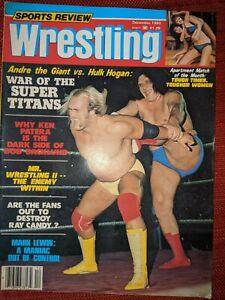 SPORTS REVIEW WRESTLING MAGAZINE DECEMBER 1980 Andre v Hulk Hogan WWF NWA  AWA