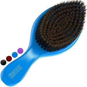 Benoo Wave Brush Blue For Men - Medium  Nylon & Boar Bristle Hair Brush