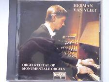 HERMAN VAN VLIET <>  Orgelrecital Op Monumentale Orgels  <> VG+ (CD)