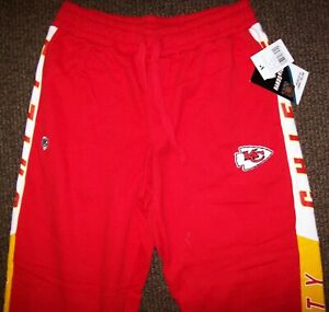KANSAS CITY CHIEFS Sweat Pants THICK with sewn CHIEFS Logo  RED  SMALL, XL