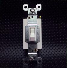20 Amp Single Pole Toggle Light Switch SPST 120V-277V White