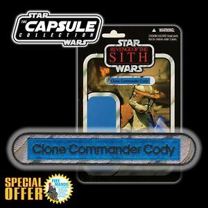 FREE MANDO OFFER!! Vintage Kenner STAR WARSCommander Cody name Capsule patch