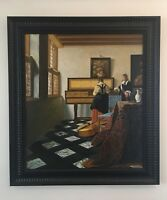 Music Lesson Dutch Oil Old Master Painting after Johannes Vermeer 30 x 26