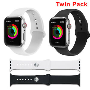 Silicone Sports Band Strap Wristband for Apple Watch Series 6/5/4/3/2