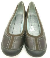 Clarks Brown Leather Casual Slip On Driving Flats Shoes Women's 8 M