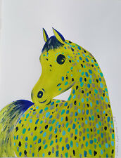 Appaloosa HORSE - ORIGINAL Acrylic -Ink PAINTING, POP ABSTRACT ART