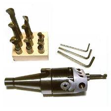 Tête à Aléser SA40 + 9 outils barre à aléser Précision 1/100
