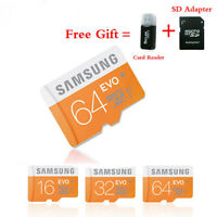 Micro SD Card 16GB 32GB 64GB Class 10 TF Memory Card SDHC 48MB/S Free Adapter