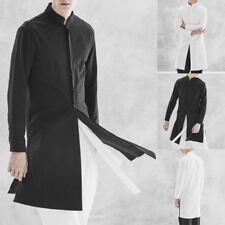 Новые мужские осенние индийские арабские с длинным рукавом мужской 100% хлопок кафтан рубашка халат Курта
