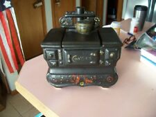 McCoy black ceramic coal stove cookie jar
