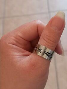Anello personalizzato con incisione a mano, regolabile, anallergico, nichelfree