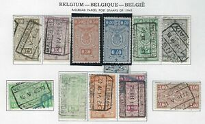 BELGIUM - RAILROAD PARCEL POST USED STAMPS (1941) 2 STAMPS ARE MINT MLH