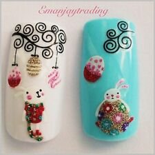Nail Art 3D  Decals/ Easter Eggs, Easter Bunnies & Swirls #178