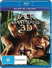 JACK THE GIANT SLAYER 3D BLU RAY -NEW & SEALED INC 2D & 3D VERSIONS BRYAN SINGER