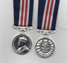 THE MILITARY  MEDAL. GEO.V. CROWNED HEAD TYPE - A SUPERB REPLICA