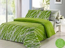 GREEN TREE Super King Size Bed Duvet/Doona/Quilt Cover Set New