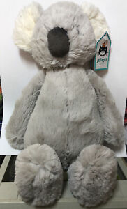 NEW Jellycat Medium Bashful Koala Bear Comforter Baby Soft Toy Grey BNWOT