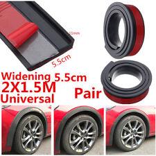 2Pcs 5.5cm Car Fender Flare Extension Wheel Eyebrow Rubber Trim Protector Stripe