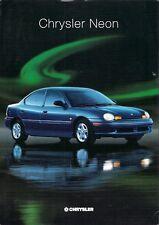 Chrysler Neon 1996 UK Market Launch Leaflet Sales Brochure 2.0 LE LX