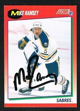 Mike Ramsey #61 signed autograph 1991-92 Score Hockey Canadian Release Card