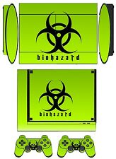 Skin Sticker PS3 PlayStation 3 Super Slim and 2 controller skins Biohazard Q253