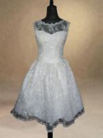 50s 60s Ivory Wedding Dress/Bridal Gown/Evening/Prom Dress 8/10/12/14/16/18