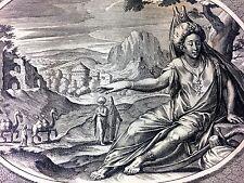 LES 4 ÉLÉMENTS - 5 CONTINENTS. 4 GRAVURES. C. VAN DALEN I (?). HOLLANDE.1640(?)