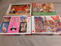 BUNDLE OF FOUR JIGSAW PUZZLES 1000 AND 500 PIECES TREFL SPINMASTER BRANDS