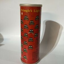Vintage Pringles Can Light Potato Chips Empty Red Extra Lid Save This Cap Rare