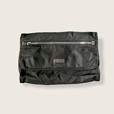 Tumi Foldable Hanging Travel Kit Toiletry Bag Black Zip NWOT