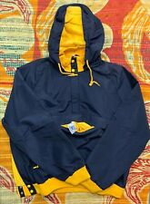 VTG IZOD LACOSTE NAVY BLUE HOODED LINED NYLON PULLOVER  JACKET SZXL Alligator