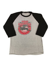 Foo Fighters Flying Big Cat Baseball Shirt, Size Large, Gray/Black