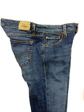 Levis Womens 524 Too Superlow Flare Blue Jeans Crosshatch Faded Size 9 M