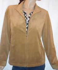 The Tog Shop Size 10 Tan Zip  Front Jacket With Pockets