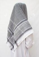 Large Arab Scarf, Shemagh Keffiyeh Islamic Headscarf Black