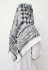 Large Arab Scarf, Shemagh Keffiyeh Islamic Headscarf Black