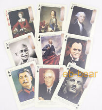 Famous People World History Poker Playing Cards Collectible Single Deck New