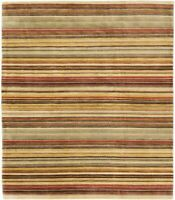 "Hand-knotted Nepali Carpet 5'2"" x 7'10"" Rainbow Traditional Wool Rug"