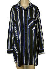 Bluse Gr. S schwarz-weiß Zick Zack Muster Long Bluse/Tunika zur Leggins