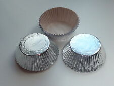 30 SILVER CUPCAKE CASES FOIL / METALLIC WITH LINERS
