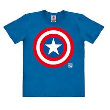 Marvel Comics - Super-héros - Captain America Logo T-shirt Bio Enfant, LOGOSHIRT