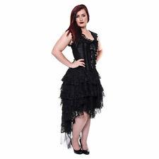 Clarissa Black Dress - Gothic Steampunk Clothing - Corset Dress
