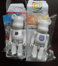 "Lot of 2 Medicom Series 20 Bearbrick Basic White Bear Figures in Box 2 3/4"" Tall"