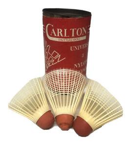 Vintage Carlton Outdoor Nylon Shuttlecocks Made in England Birdies