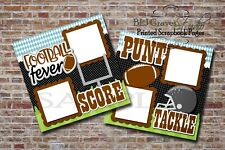 Football Fever Sports Tackle 2 PRINTED Premade Scrapbook Pages BLJgraves 74