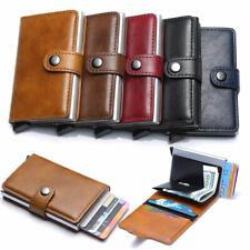 Wallet for Men Minimalist Front Pocket RFID Blocking Pop-up Credit Card Holder